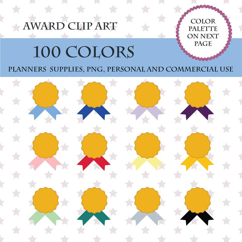 colors clip art. Award clipart cute