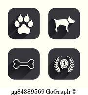 Award clipart dog. Eps vector shih tzu