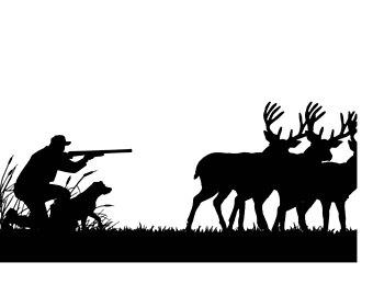 Award clipart dog. Hunting etsy deer hunter