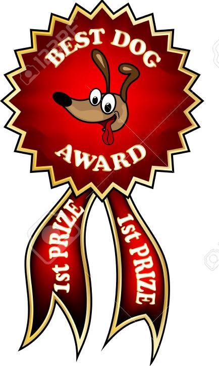 award clipart dog