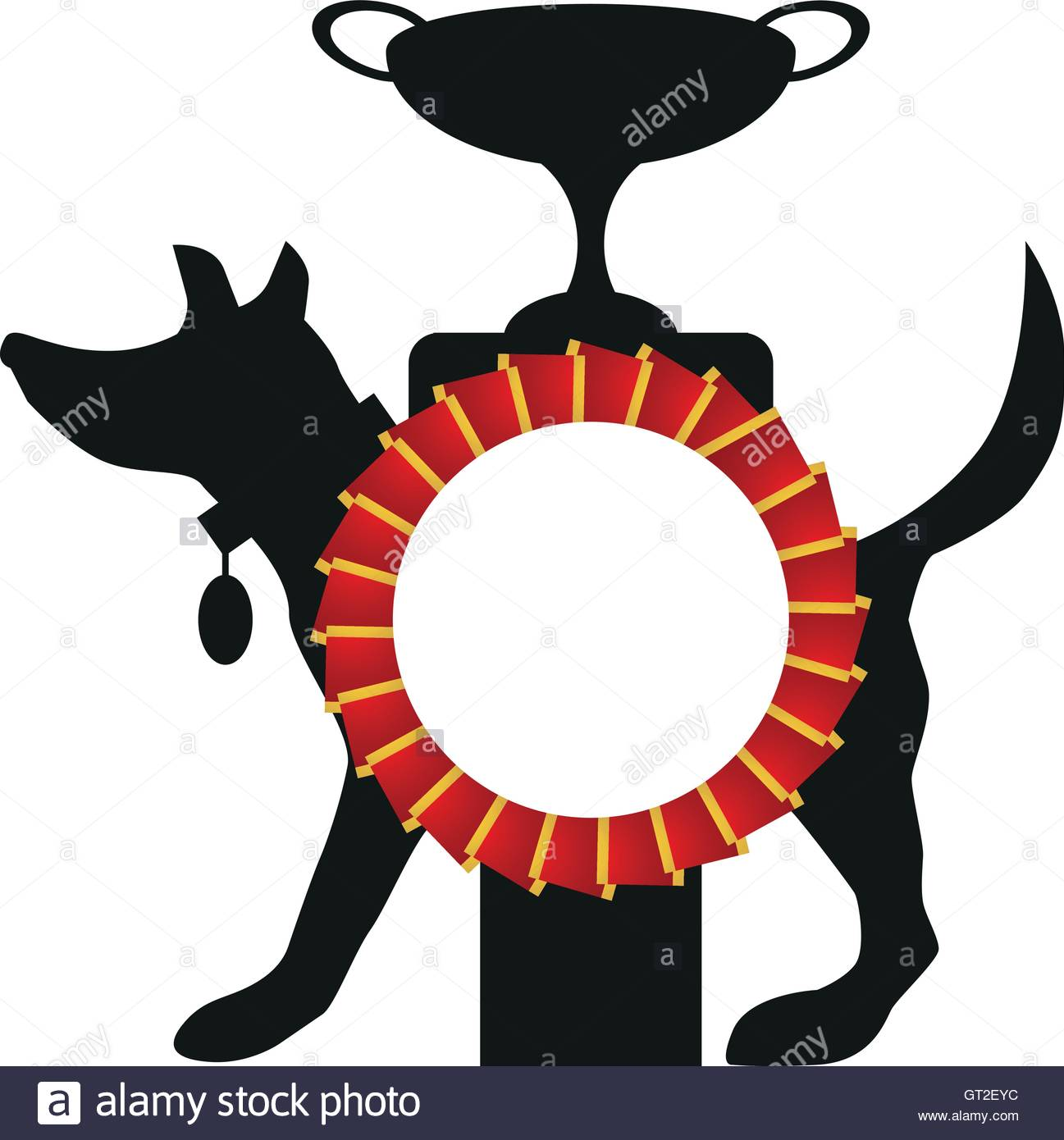 Award clipart dog. Silhouette at getdrawings com