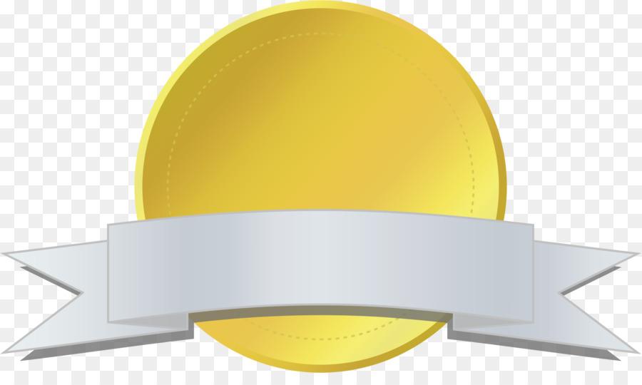 Award clipart emblem. Gold ribbon background medal