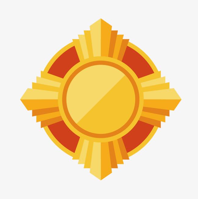 Golden medal design png. Badge clipart award