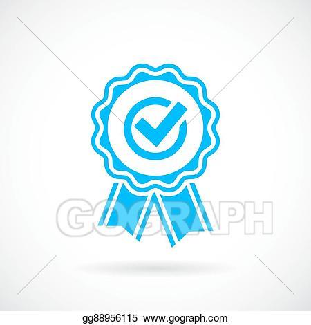 Award clipart emblem. Vector art honour eps