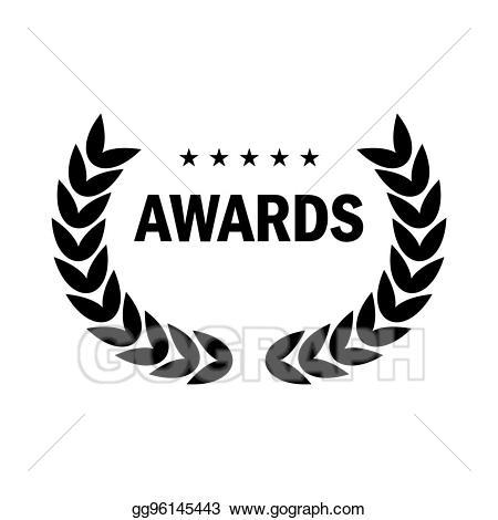 Award clipart emblem. Vector stock black logo