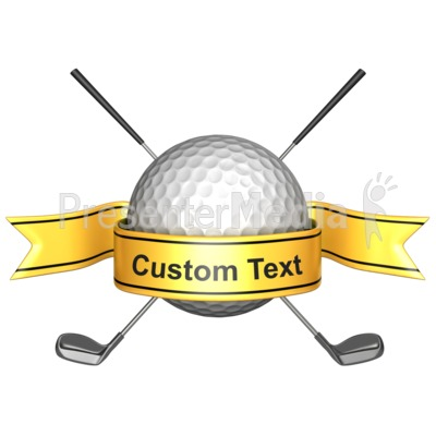 Golf clipart award. Custom banner sports and