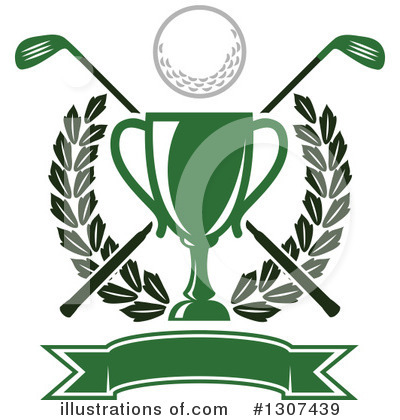 Golf clipart award. Illustration by vector tradition