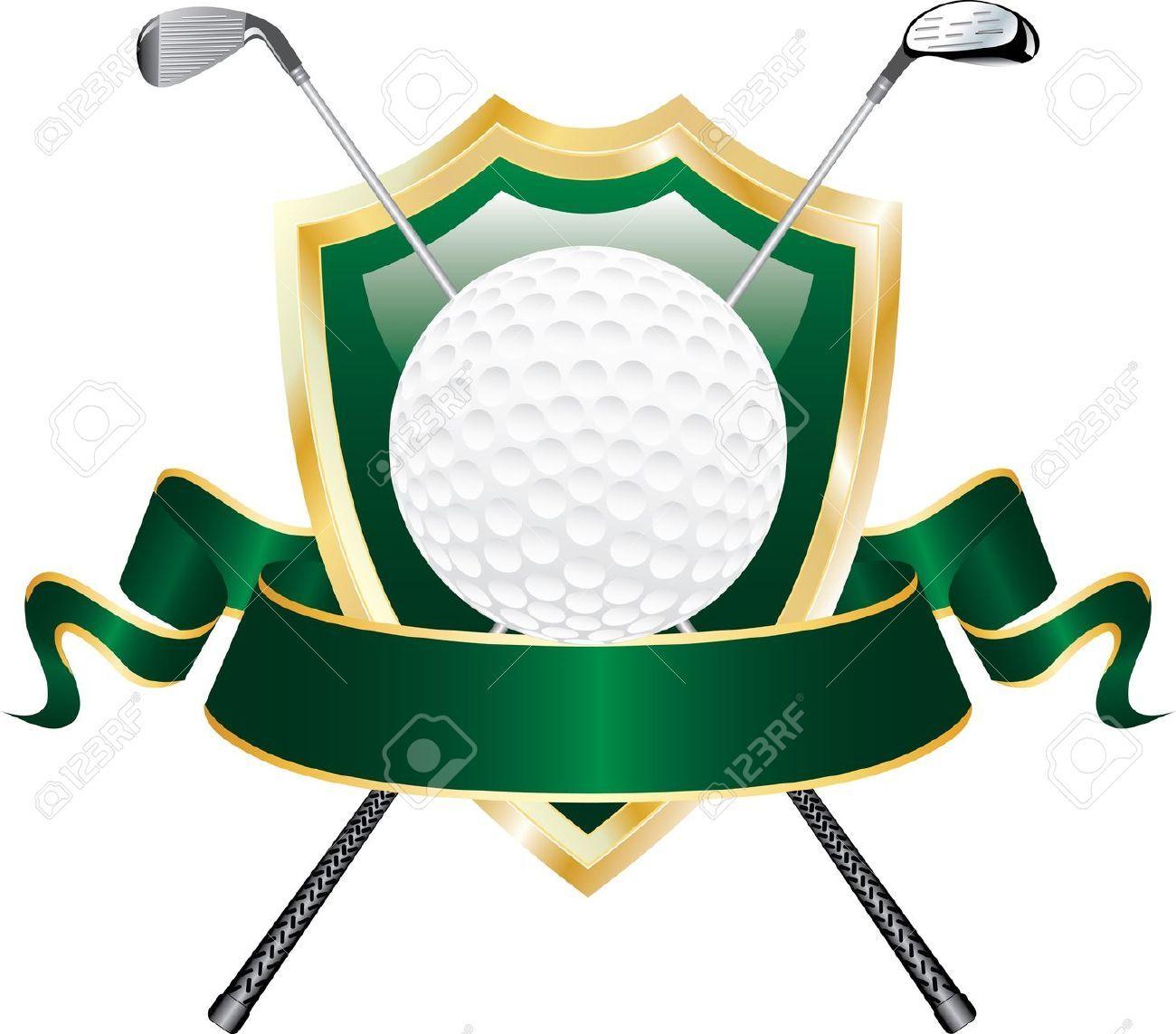 Golf clipart award. Stock vector design blank
