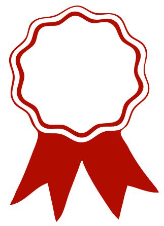 Graduation clipart ribbon. Award red clip art