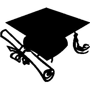 b c d. Award clipart graduation