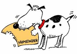 Dog eating or no. Award clipart homework