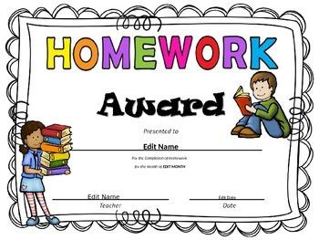 Award clipart homework. Worksheets teachers pay