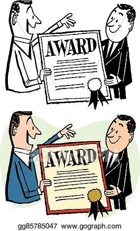 Award clipart illustration. Vector stock man receiving