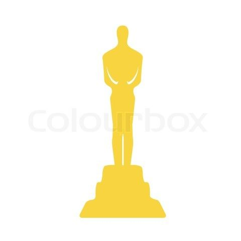 Award clipart illustration. Trophy film pencil and