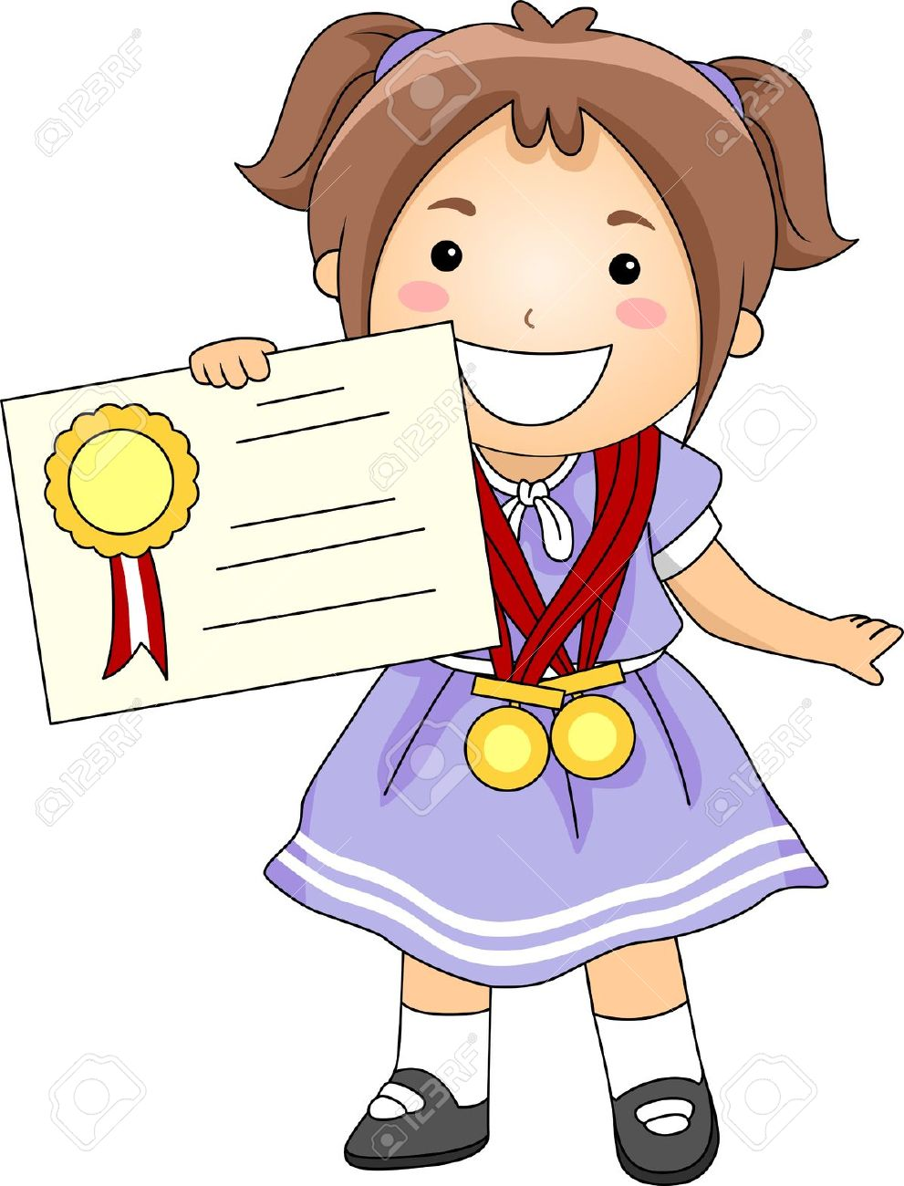 collection of school. Award clipart illustration