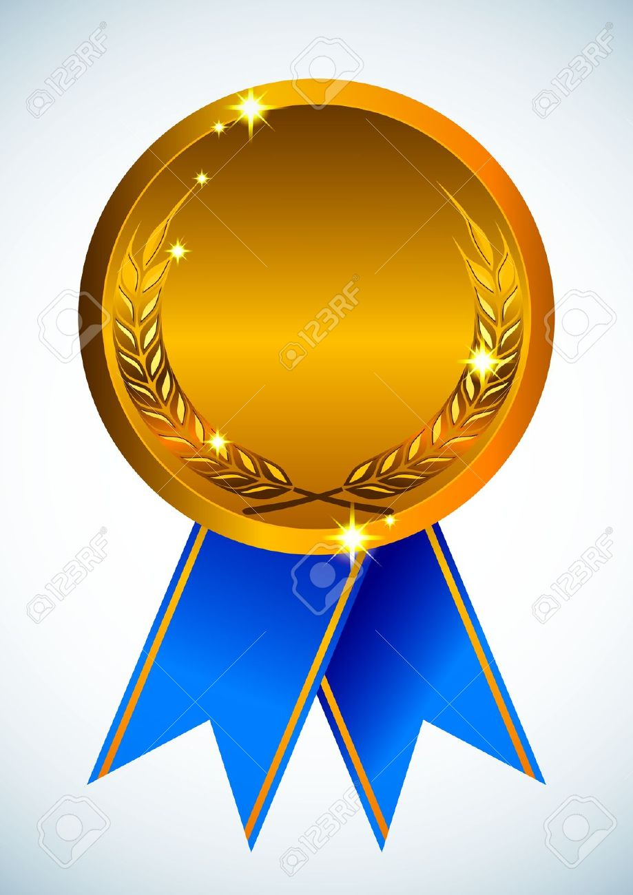Award clipart illustration. Ribbon gold free collection