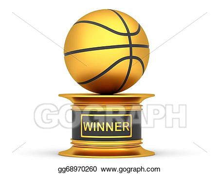Awards clipart basketball. Stock illustration award trophy