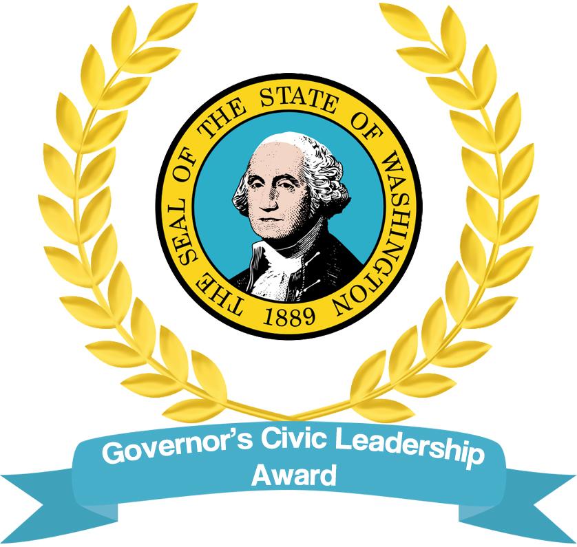 Governor s civic students. Award clipart leadership award