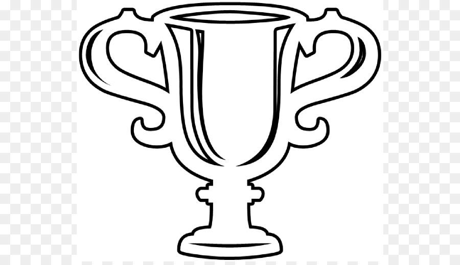 Award clipart line art. Ribbon trophy clip cute