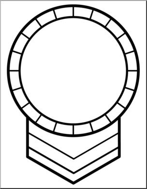 Award clipart line art. Clip circle b w