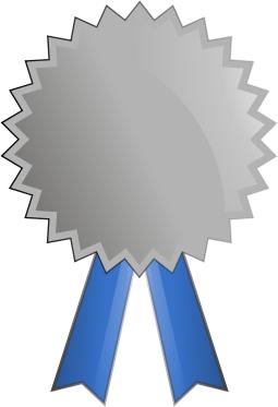 Silver medal crafts pinterest. Award clipart medallion