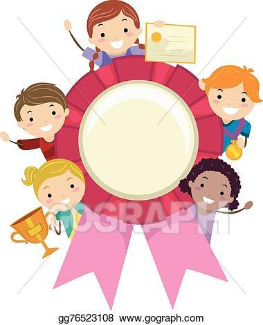 Award clipart preschool. Vector art stickman kids