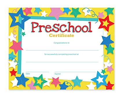 Amazon com certificates pack. Award clipart preschool