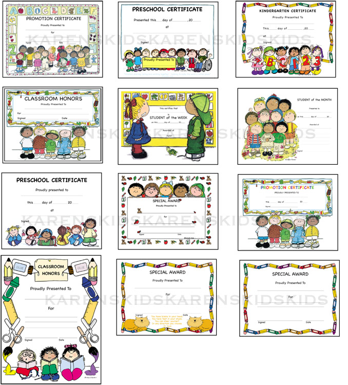 All year pdf downloadable. Awards clipart preschool