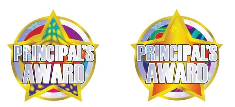 Award clipart principal's. Principal s foil stickers