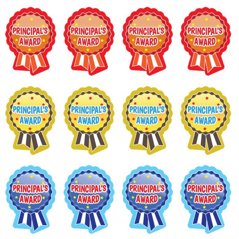 Principal award stickers rosette. Awards clipart principal's