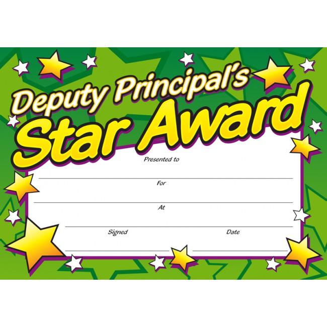 Award clipart principal's. Deputy principal s blue