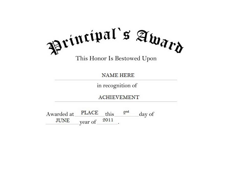 Award clipart principal's. Principal s free templates