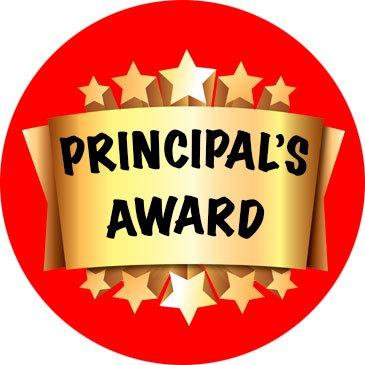 Principal s stickers . Award clipart principal's