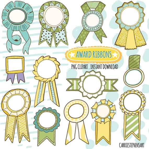 Award ribbon graphics yellow. Awards clipart printable