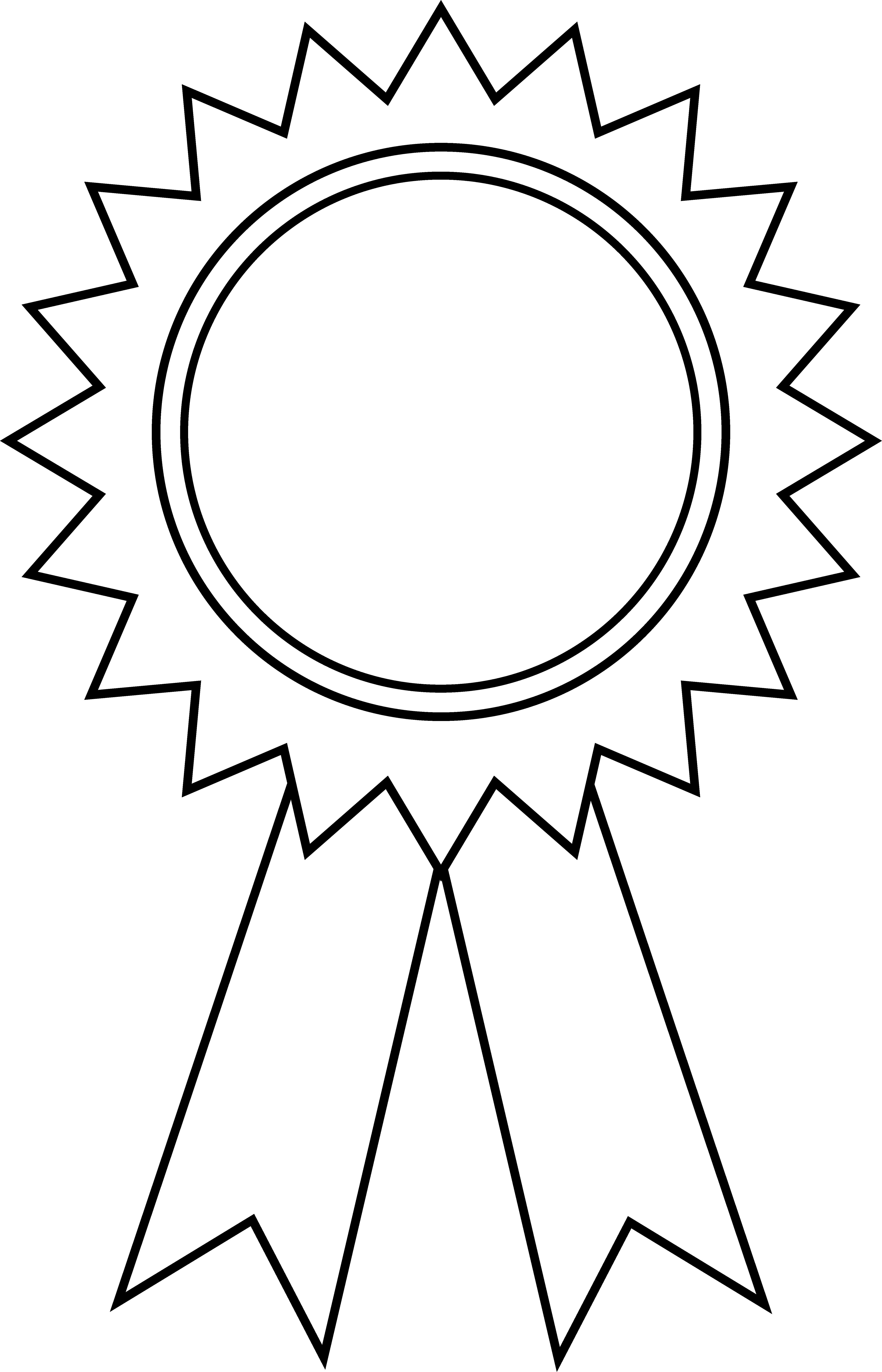 Award certificate template black. Awards clipart printable