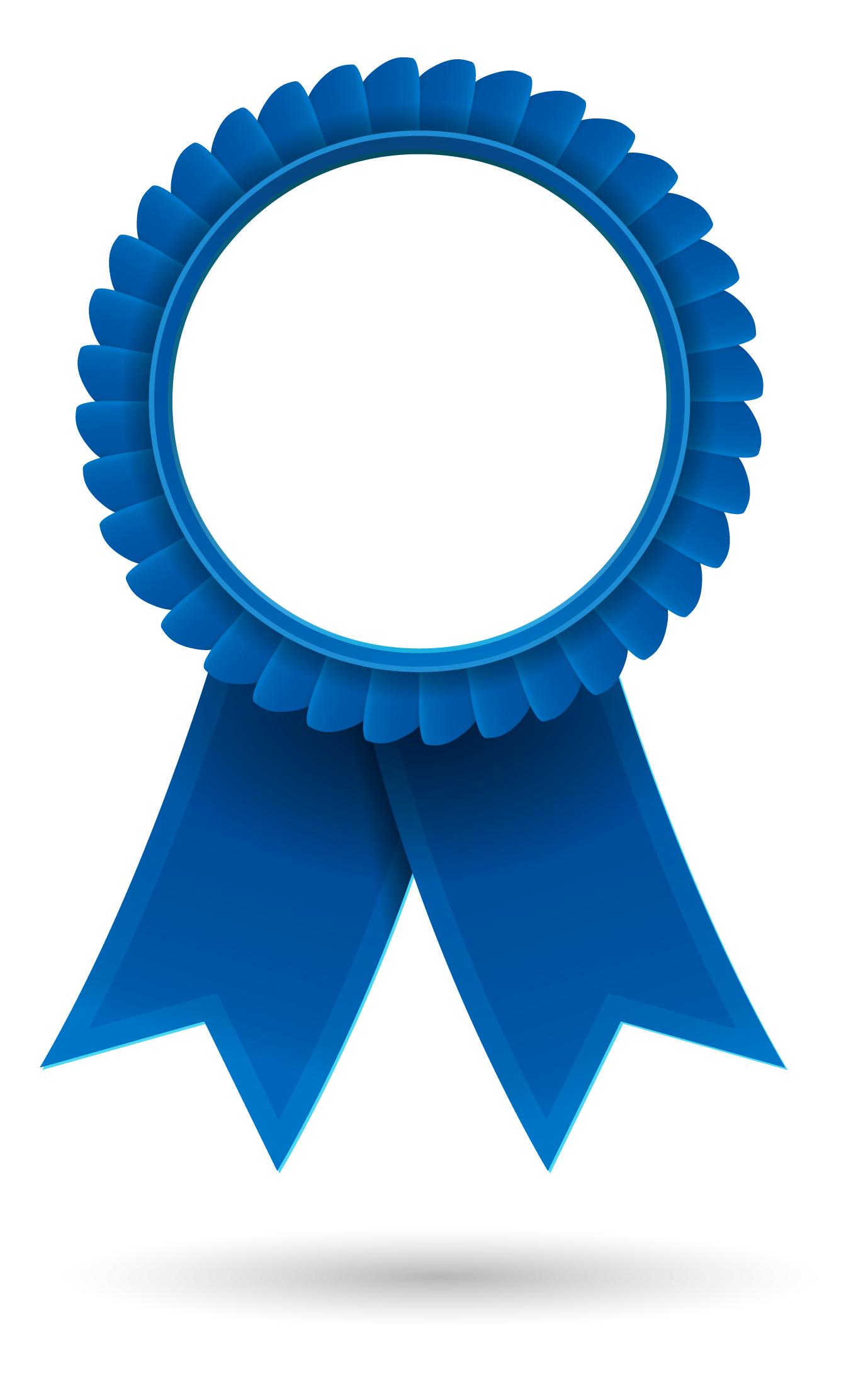 Award clipart ribbon. Blue clip art free