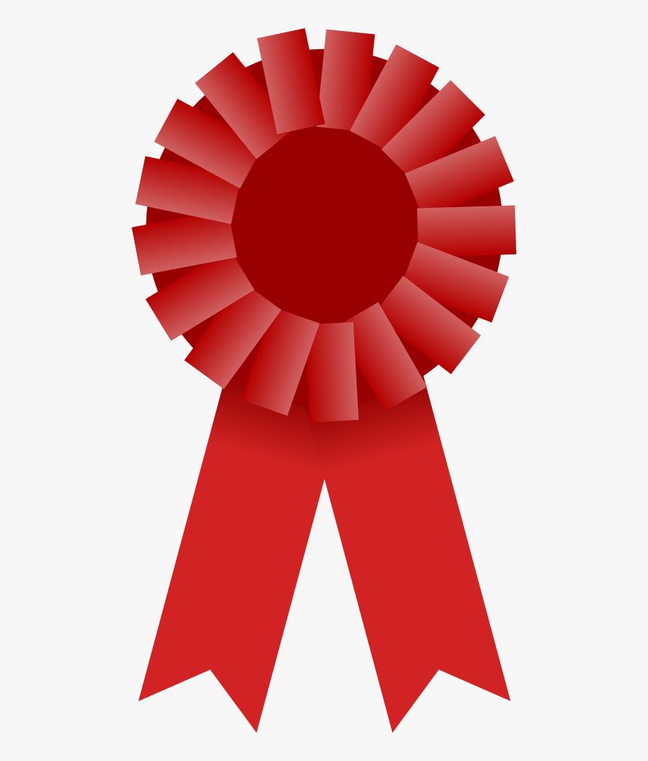 Award clipart ribbon clip art. Red free