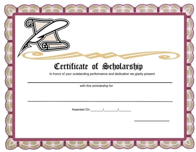 Award clipart scholarship award. Certificate template word cortezcolorado