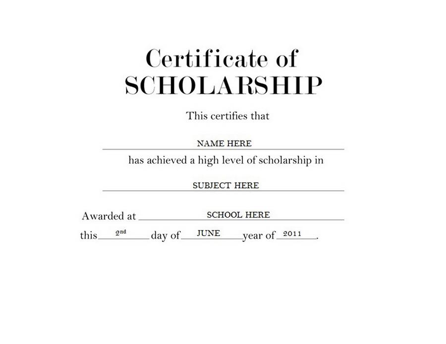 Award clipart scholarship award. Certificate of free templates