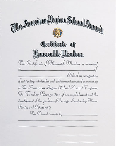 School honorable mention certificate. Award clipart scholarship award