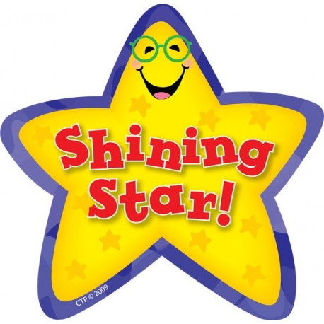 Award clipart shining star. Stickers ctp english wooks