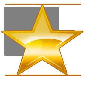 award clipart shining star
