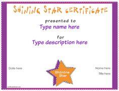 Award clipart shining star. Free printable music certificates