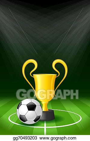 Award clipart soccer. Vector illustration background with