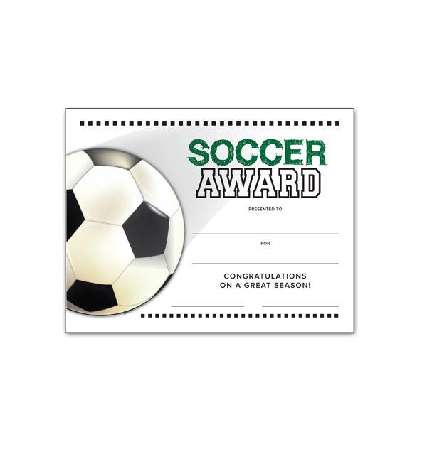 End of season certificate. Award clipart soccer
