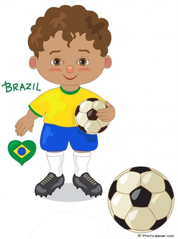 Brazil national jersey cartoon. Award clipart soccer