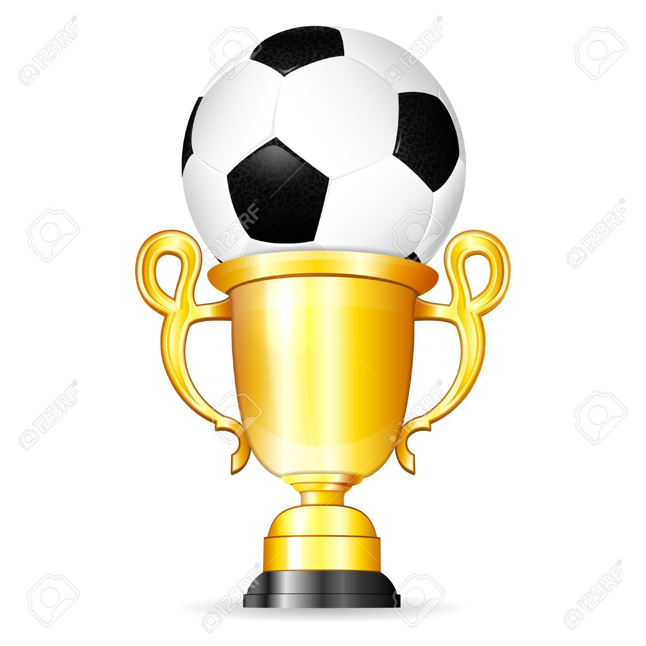 Poster with ball and. Award clipart soccer