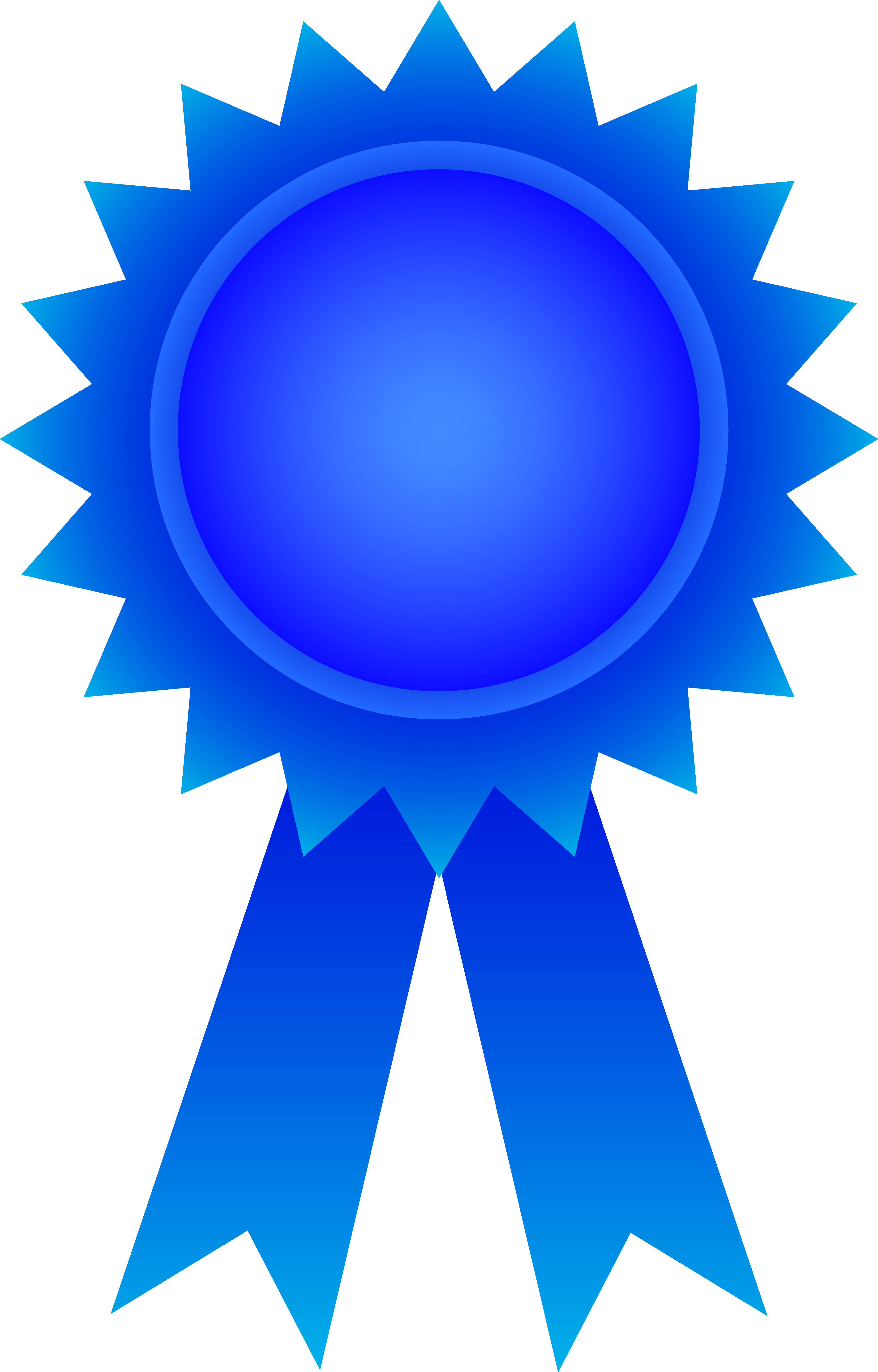 Badge clipart ribbon. Blue award