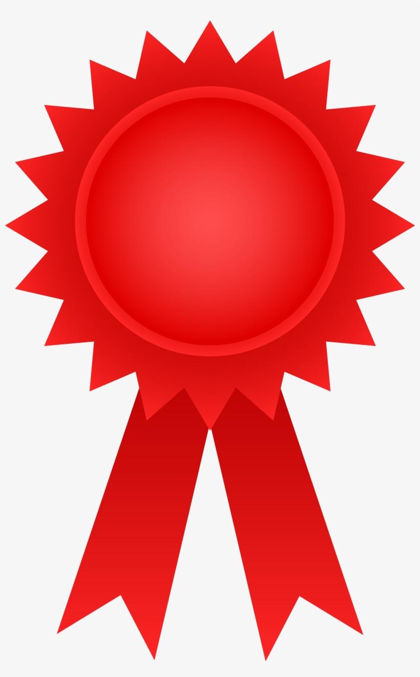 Award clipart symbol. Red clip art transparent
