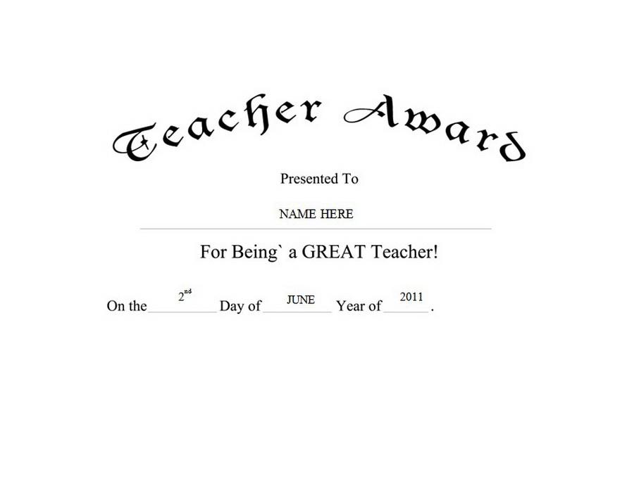 clipart teacher award